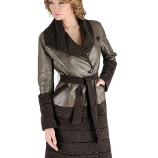 CLEOPATRA cappotto shearling Reversibile